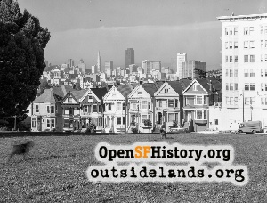 View from Alamo Square,1973
