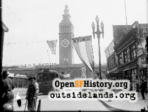 Ferry Building Decorated for F.O.E....,1922c