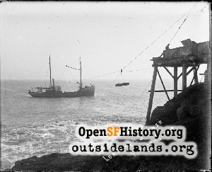 Loading a Steamer at Pigeon Point