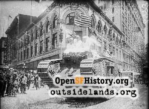 Market at Stockton,1918