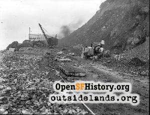 Point Lobos Road Construction,1922c