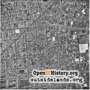 Mission District Aerial,1969