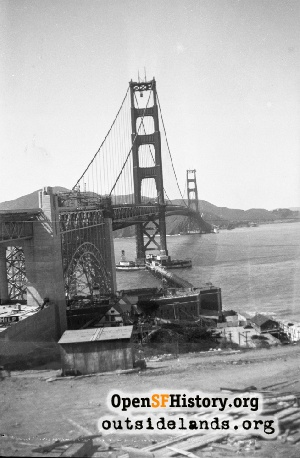 Golden Gate Bridge Under Construction,1937c