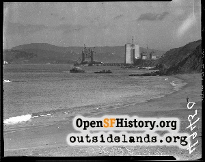 Golden Gate Bridge Under Construction,Feb 1935