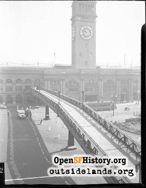 Pedestrian Bridge at Ferry Building,1930s