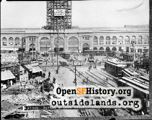 Construction of Ferry Building...,1906