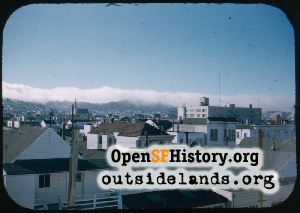 View NW over Mission,1960s