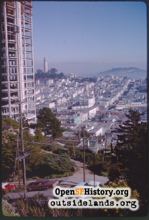 View E from Russian Hill,Jan 1963