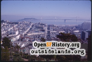 View from Russian Hill,Jan 1963