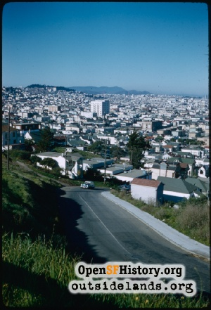 View from Bernal Heights,Jan 1958