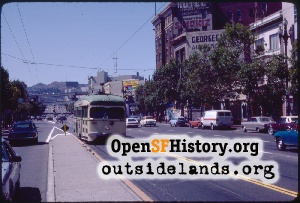 Van Ness & Market looking west,1982