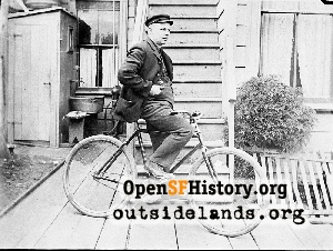 Man on bicycle,1910