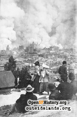 Fire from Russian Hill,1906