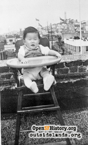 Chinatown rooftop,1950
