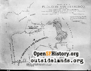 Pueblo of SF Map,1868