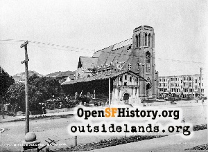 Mission Dolores & Church,1906