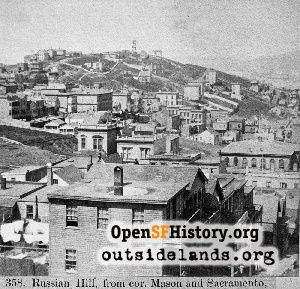 Russian Hill from Nob Hill,1865