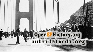 GG Bridge opening,1937