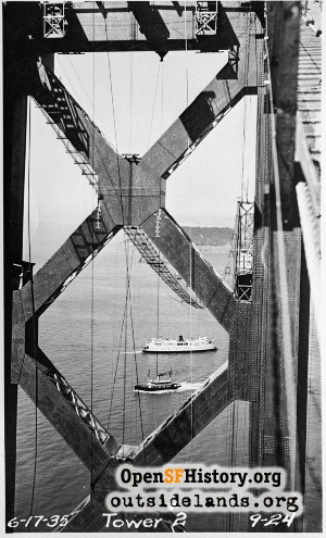 Bay Bridge construction,1935