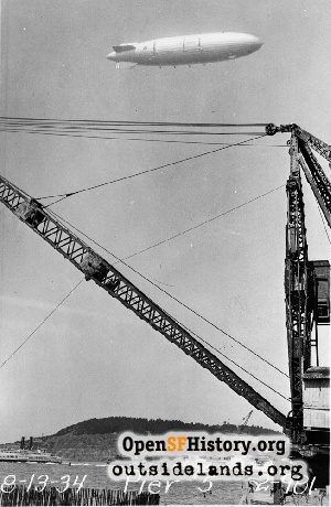 Bay Bridge construction,1934