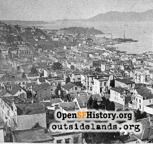 View W from Telegraph Hill,1885