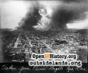 1906 fire from Bernal Hts,1906