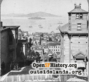 View N from Russian Hill,1885