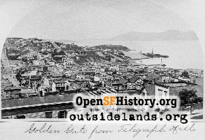 View W from Telegraph Hill,1880s