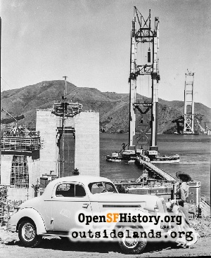 GG Bridge construction,1935