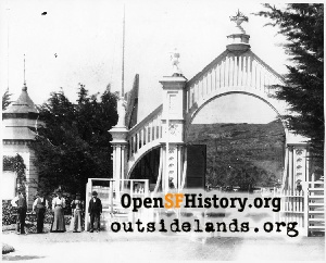 Sutro Heights Entry Gates,1900c