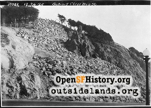 Point Lobos Avenue and fake rock...,1925