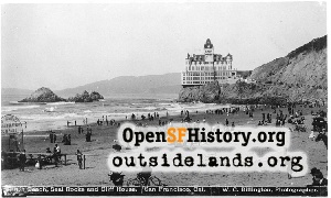 Second Cliff House and Seal Rocks,1900c