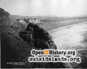 Ocean Beach from Cliff House,1886c