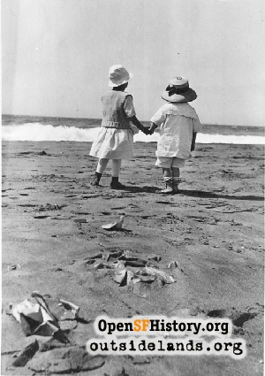 Children at Ocean Beach,1910s