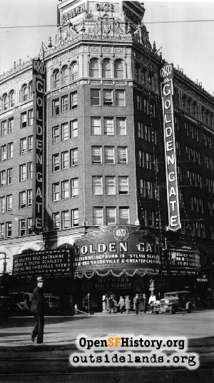 Golden Gate Theatre,Dec 1935