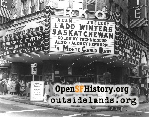 Golden Gate Theatre,Mar 1954