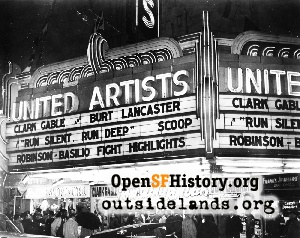 United Artists Theatre,Mar 1958