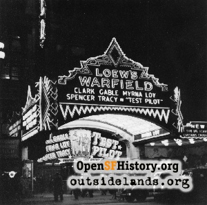 Loew's Warfield Theatre,1938