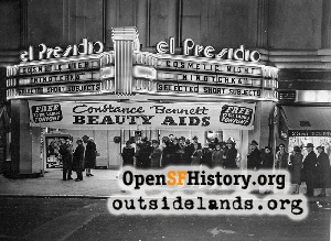 El Presidio Theatre,Jan 1940