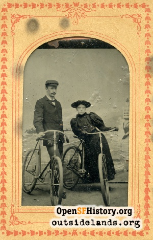 Man & Woman on Bicycles,1900