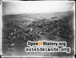 Aerial view Outer Sunset,1912