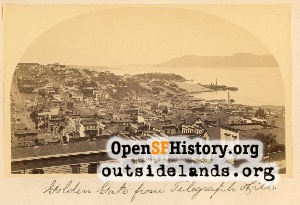 View w from Telegraph Hill,1870