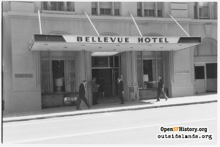 Bellevue Hotel, Geary and Taylor.