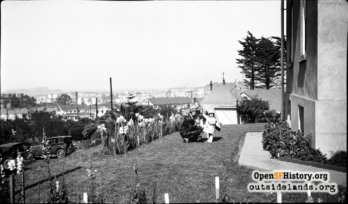 The Canby-LeRoy family at the Presidio with their dog—our archives serendipity.