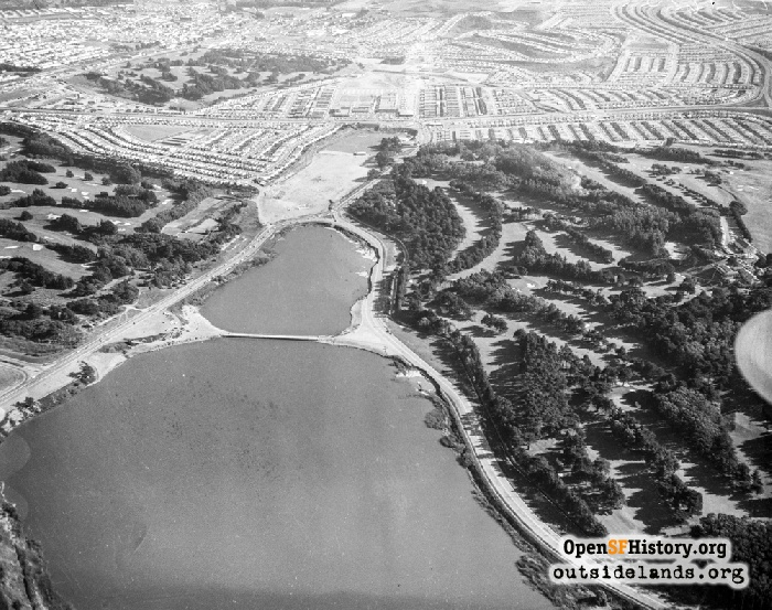 Looking South toward Daly City and Westlake Development after 1957 Earthquake, March 27, 1957.