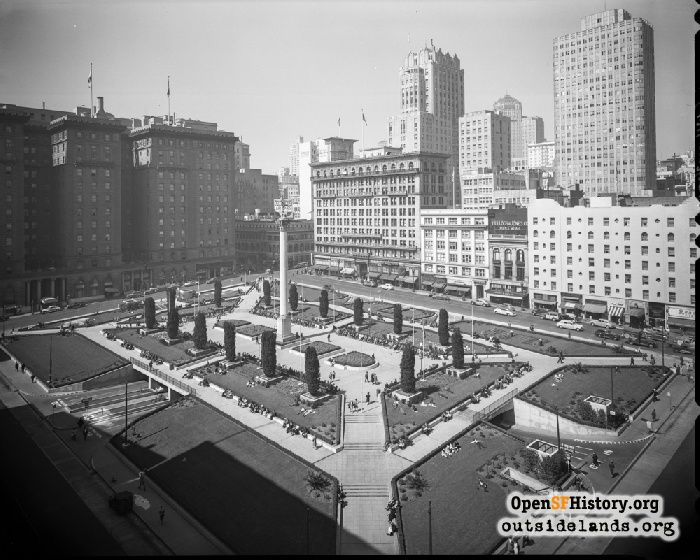 View northwest over Union Square, 1944.