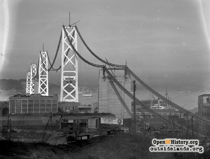 Bay Bridge Construction, circa 1935.