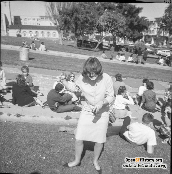 Teens in Dolores Park, 1964.