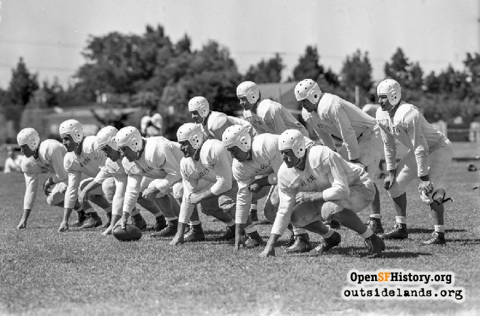 San Francisco 49ers preseason publicity photo, August 1946.