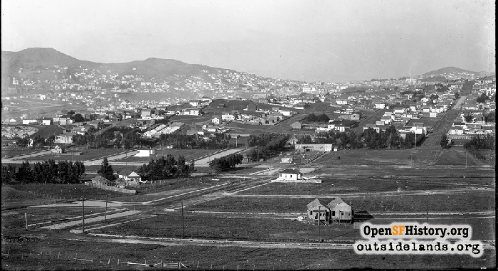 View north from Southern Hills, 1912.
